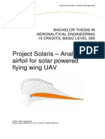 Project Solaris - Airfoil Analysis