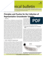 Thornton 2001 Principles and Practice for the Collection of Representative Groundwater Samples