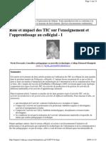 Perreault Typologie TIC