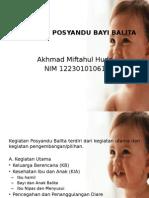 Kegiatan Posyandu Bayi Balita