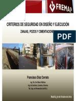 Criterios de Seguridad en Diseño y Ejecución. Zanjas, Pozos y Cimentaciones