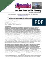 Turbine Flow Loop Report