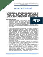 EJEMPLO DE Memoria Descriptiva Huando