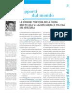 LA MISSIONE PROFETICA DELLA CHIESA NELL'ATTUALE SITUAZIONE SOCIALE E POLITICA DEL VENEZUELA