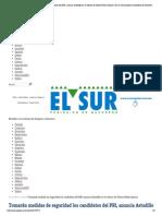 03-05-15 Tomarán medidas de seguridad los candidatos del PRI, anuncia Astudillo en el velorio de Ulises Fabián Quiroz