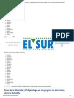02-05-15 Zonas de la Montaña y Chilpancingo, en riesgo para las elecciones, advierte Astudillo