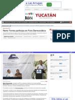 07-05-2015 Nerio Torres participa en Foro Democrático.