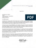 04-29-15 American Legion Letter to Boehner Dept of VA Proposed Budget