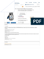 Bomba Submersível Ebara OPTIMA MA Em Inox 0,33 CV Monofásica 220V - 20170107007