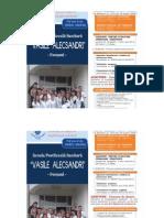 SCOALĂ POSTLICEALĂ  SANITARĂ  VASILE  ALECSANDRI  -FOCSANI 2015 -2016