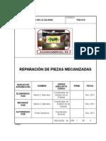 PGC-013 Reparación de Piezas Mecanizadas