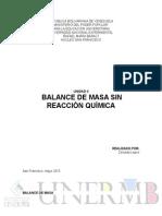 Balance de Masa Sin Reacción Quimica