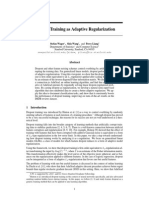 4882 Dropout Training as Adaptive Regularization