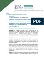 La Revista Iberoamericana de Educación es una publicación monográfica cuatrimestral editada por la Organización de Estados Iberoamericanos.docx