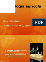 Hidrologia Agricola - Montes Arias, Danny