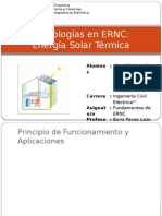 Tecnologías en ERNC Energía Solar Térmica 1