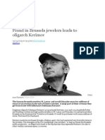 Fraud in Brussels Jewelers Leads to Oligarch Kerimov