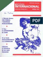 Revista Internacional - Nuestra Epoca N°3 - marzo 1981 - Edición Chilena