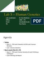 Lab 5 – Human Genetics
