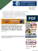 04-05-15 Iniciativa Privada Fronteriza Dialoga Sobre Beneficios de Reformas Con Marco Bernal