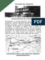 Via Verde Suroeste folleto
