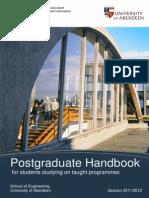 MSc Engineering PGT Handbook 2011-12