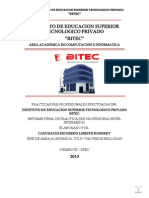 Informe de Practicas Intermedias Lisbeth r. Canchachi Escobedo