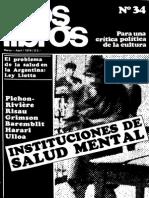 Revista Los libros N° 34, Salud Mental. Año 1974. VV. AA.