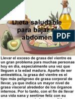 Dieta Para Bajar El Abdomen