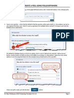 create a poll using polleverywhere 2014 update