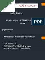 Exp. Metodologia de Inspeccion de Tuneles. Ing. Geologia de Minas