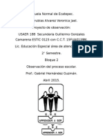 PROYECTO USAER 188. Secundaria ESTIC 123 Guillermo Gonzales Camarena