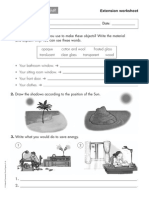 Sciences 3 Primaria Extension Worksheet