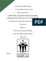 Informe de Práctica USAER 188