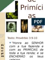 Culto de Primicias Proverbio 3 9-10
