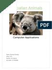 australian animals monique dunphy