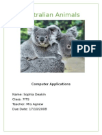 australian animals sophia deakin