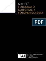 Master en Fotografia Editorial y Fotoperiodismo