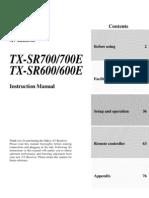 Onkyo TX-SR600 Instruction manual
