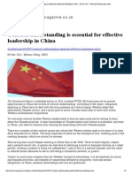 Cultural Understanding is Essential for Effective Leadership in China - 09 Dec 2011 - Financial Director Print View