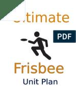 Ultimate Frisbee Unit Plan 1