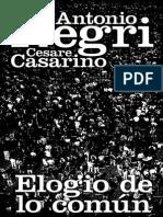Negri Antonio Y Casarino Cesare - Elogio de Lo Comun