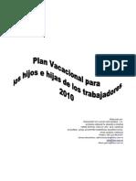 Plan Vacacional