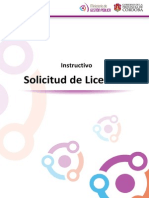 Instructivo Solicitud de Licencias