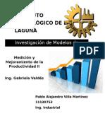 Investigación de Los Modelos de Productividad