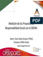 MEDICION DE LOS PROYECTOS DE RESPONSABILIDAD SOCIAL CON EL SROIM