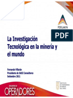 La Investigación Tecnológica en la minería y  el mundo
