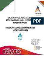 INCREMENTO DEL PORCENTAJE DE RECUPERACIÓN DE COBRE EN COMPAÑÍA MINERA ANTAMINA
