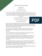 Acuerdo Municipal 148