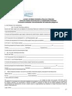 Formulario Ambiental Para Almacenamiento de Materiales Peligrosos